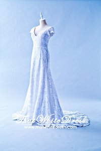 305W007 Vintage Sleeves Wedding Dress Designer Malaysia