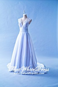 305W008 Aline Vneck Lace Wedding Dress Designer Malaysia