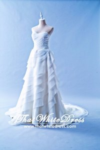 401W006 Princess A Line Brown Layered Rufffles Wedding Dress Designer Malaysia