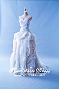 401W008 Vera Wang inspired Diana Princess Rose Ruffles Wedding Dress Designer Malaysia