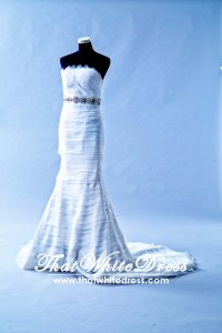 401W011 HH Trumpet Layered Wedding Dress Designer Malaysia