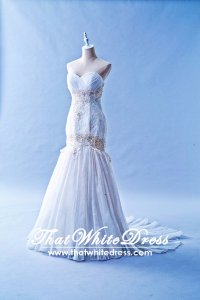 212W03 Princess Mermaid Wedding Dress Designer Malaysia