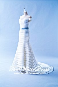 401W013 HH Off shoulder Tiered Wedding Dress Designer Malaysia