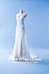408W16 MTF Pleated Tube Trumpet A Line (1) Wedding Dress Designer Malaysia