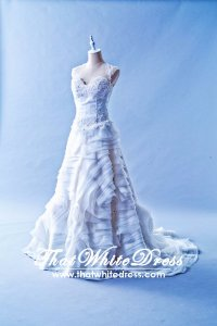 412W02 MM Vera Lace top A line Wedding Dress Designer Malaysia