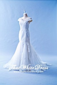412W19 LL off shoulder trumpet Wedding Dress Designer Malaysia