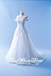 412W08 CS off shoulder lace Princess Wedding Dress Designer Malaysia
