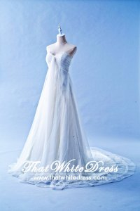 412WL01 CS A line Covertible Shoulder Strap Wedding Dress Designer Malaysia