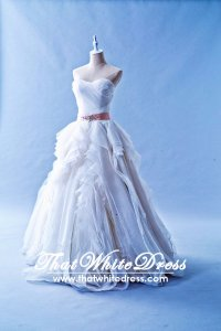 502W06 XJ Vera Princess Ruffle Wedding Dress Designer Malaysia