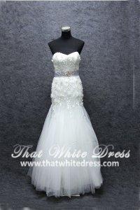 Designer wedding Gown S1502W07 XJ Sweet Heart 3D Floral Motif Trumpet Elie Saab