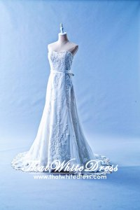 505W04 LL Sweet Heart Alencon lace A line Beaded Wedding Dress Designer Malaysia