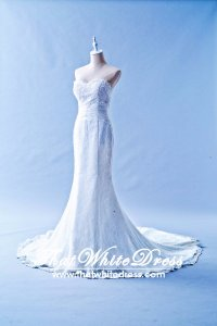 506W01 LL Sweet Heart Trumpet Knoted waist Wedding Dress Designer Malaysia