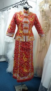 Silver - wedding gown 1405KW01 Kwa S