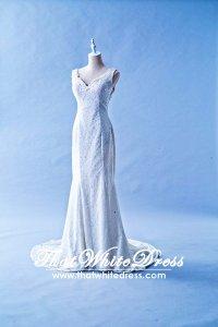 405WL06 Strap Classy Trumpet Plus Size (1) Wedding Dress Designer Malaysia