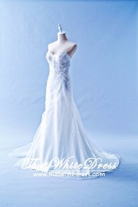 607HFW01 HF Sweet Heart pleated A line Wedding Dress Designer Malaysia