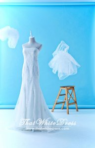 71LLW01 LL Dionne Sweet Heart Trumpet Detachable panel Wedding Dress Malaysia Rental Custom