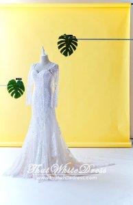 71LLW03 LL Long Sleeves Royal A line Marrakesh Wedding Dresss Malaysia Baju Pengantin KL