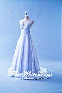 305W008 Aline Vneck Lace Wedding Dress Designer Malaysia
