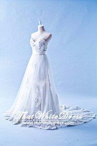 212W08 Princess Mermaid Lace Wedding Dress Designer Malaysia