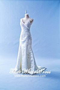 405W004 CS Lace sleeves strap Duchesses Mermaid Trumpet Wedding Dress Designer Malaysia