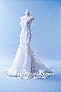 412W05 MM Strap Trumpet Cap Sleeves Wedding Dress Designer Malaysia
