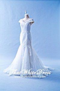 412W19 LL off shoulder trumpet Wedding Dress Designer Malaysia