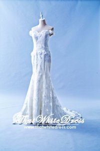 504W03 CS Off Shoulder Trumpet Wedding Dress Designer Malaysia