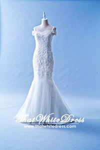 601W03 BR Off Shoulder Trumpet Wedding Dress Designer Malaysia