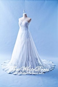 412W07 MM Trumpet Lace Overlay Wedding Dress Designer Malaysia