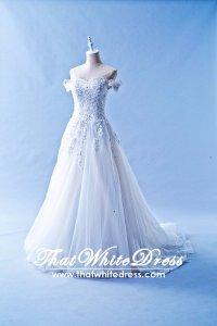 412W08 CS off shoulder lace Princess Wedding Dress Designer Malaysia
