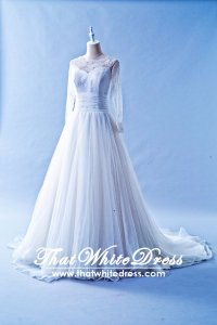 412WL02 CS Long Sleeves Lace Wedding Dress Designer Malaysia
