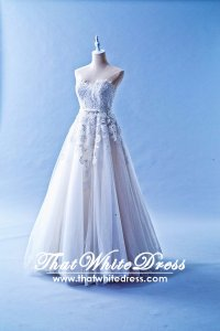 502W12 XJ High Waist Princess Guipure Lace Wedding Dress Designer Malaysia