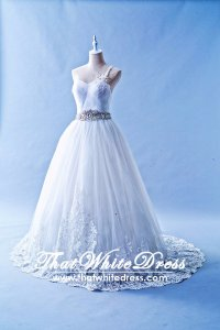 503W02 IS One Shoulder Lace Princess Wedding Dress Designer Malaysia
