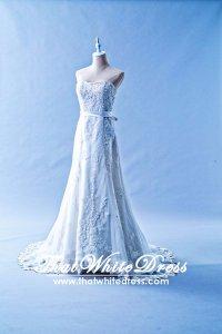 505W04 LL Sweet Heart Alencon lace A line Beaded Wedding Dress Designer Malaysia