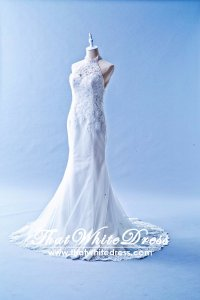 506W04 LL Anna Halter Neck Wedding Dress Designer Malaysia