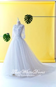 408W14 MM Princess Long Sleeves Wedding Dresss Malaysia Baju Pengantin KL